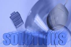 Illustrazione della rete delle soluzioni 3D Fotografia Stock Libera da Diritti