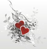 Illustrazione della scheda dei biglietti di S. Valentino Fotografia Stock Libera da Diritti