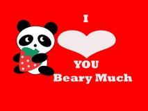 Illustrazione della scheda del biglietto di S. Valentino dell'orso Immagini Stock Libere da Diritti