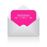Illustrazione della scheda dell'invito Fotografia Stock Libera da Diritti