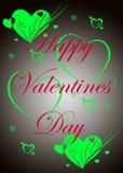 Illustrazione della scheda di giorno dei biglietti di S. Valentino Fotografia Stock Libera da Diritti