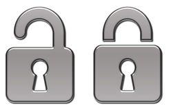 Illustrazione della serratura del lucchetto   Fotografia Stock Libera da Diritti