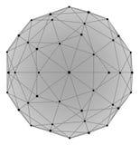 Illustrazione della sfera di Wireframe Fotografia Stock