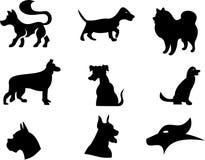 Illustrazione della siluetta del cane Fotografia Stock