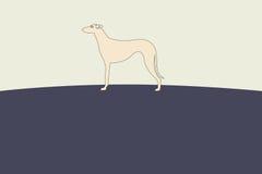 Illustrazione della siluetta del cane del levriero Fotografie Stock