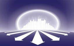Illustrazione della siluetta del grattacielo della città royalty illustrazione gratis