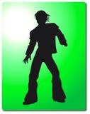 Illustrazione della siluetta dell'uomo Fotografie Stock Libere da Diritti
