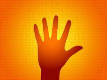 Illustrazione della siluetta della mano Fotografia Stock Libera da Diritti