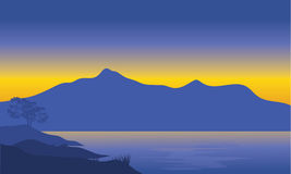 Illustrazione della siluetta della montagna illustrazione vettoriale