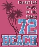 Illustrazione della spiaggia Fotografia Stock Libera da Diritti