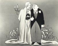Illustrazione della sposa e dello sposo fotografia stock libera da diritti