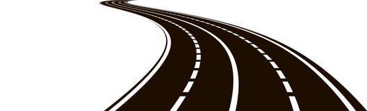 Illustrazione della strada curva Royalty Illustrazione gratis