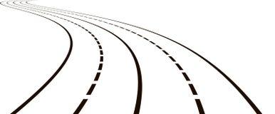 Illustrazione della strada curva Illustrazione di Stock