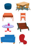 Illustrazione della strumentazione della mobilia nel vettore Immagine Stock Libera da Diritti