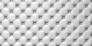 Illustrazione della tappezzeria del cuoio bianco Immagine Stock Libera da Diritti