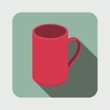 Illustrazione della tazza del tè Immagine Stock