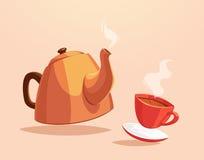 Illustrazione della tazza di tè Immagini Stock Libere da Diritti