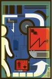 Illustrazione della telecomunicazione Fotografie Stock Libere da Diritti