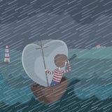 Illustrazione della tempesta Immagini Stock