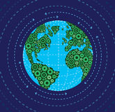 Terra ed ingranaggi Immagini Stock Libere da Diritti