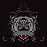 Illustrazione della testa dell'orso di furia Immagine Stock
