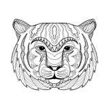 Illustrazione della tigre di Zentangle Fotografia Stock