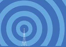 Illustrazione della torretta di radiodiffusione Immagini Stock Libere da Diritti