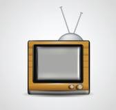 Illustrazione della TV di legno realistica Immagine Stock Libera da Diritti