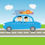 Illustrazione della vacanza di famiglia Immagine Stock