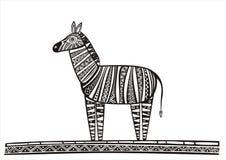 Illustrazione della zebra Fotografia Stock