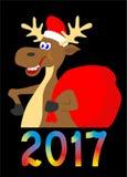 Illustrazione delle alci, cervo del fumetto, immagine delle alci su fondo bianco Fotografia Stock
