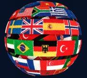 Illustrazione delle bandiere nazionali Knit torte come globo a spirale royalty illustrazione gratis