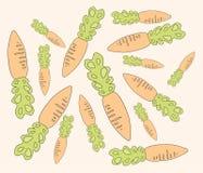 Illustrazione delle carote su fondo beige illustrazione vettoriale