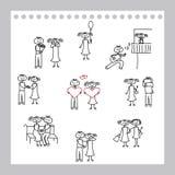 Illustrazione delle coppie sveglie Immagine Stock
