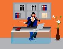Illustrazione delle donne dell'ufficio di affari Fotografie Stock Libere da Diritti