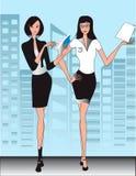 Illustrazione delle donne dell'ufficio di affari Immagine Stock Libera da Diritti
