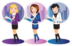 Illustrazione delle donne dell'ufficio di affari Fotografia Stock Libera da Diritti