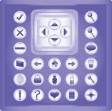 Illustrazione delle icone Fotografie Stock