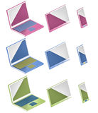 Illustrazione delle icone 3d del computer, del telefono e della compressa Fotografia Stock Libera da Diritti