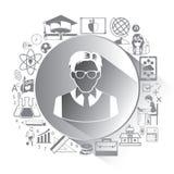Illustrazione delle icone di istruzione messe Fotografia Stock