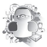 Illustrazione delle icone di pugilato messe Immagini Stock Libere da Diritti