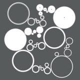 Illustrazione delle icone differenti degli ingranaggi Immagine Stock