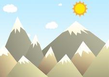 Illustrazione delle montagne Illustrazione Vettoriale