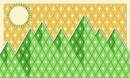 Illustrazione delle montagne Fotografie Stock