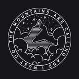 Illustrazione delle montagne di vettore Immagini Stock
