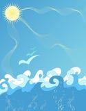 Illustrazione delle onde di oceano royalty illustrazione gratis