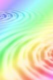 Illustrazione delle ondulazioni dell'acqua del Rainbow Immagine Stock Libera da Diritti