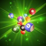 Illustrazione delle palle di bingo Immagine Stock Libera da Diritti