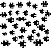 Illustrazione delle parti di puzzle Fotografia Stock