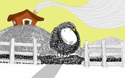 Illustrazione delle pecore Fotografia Stock